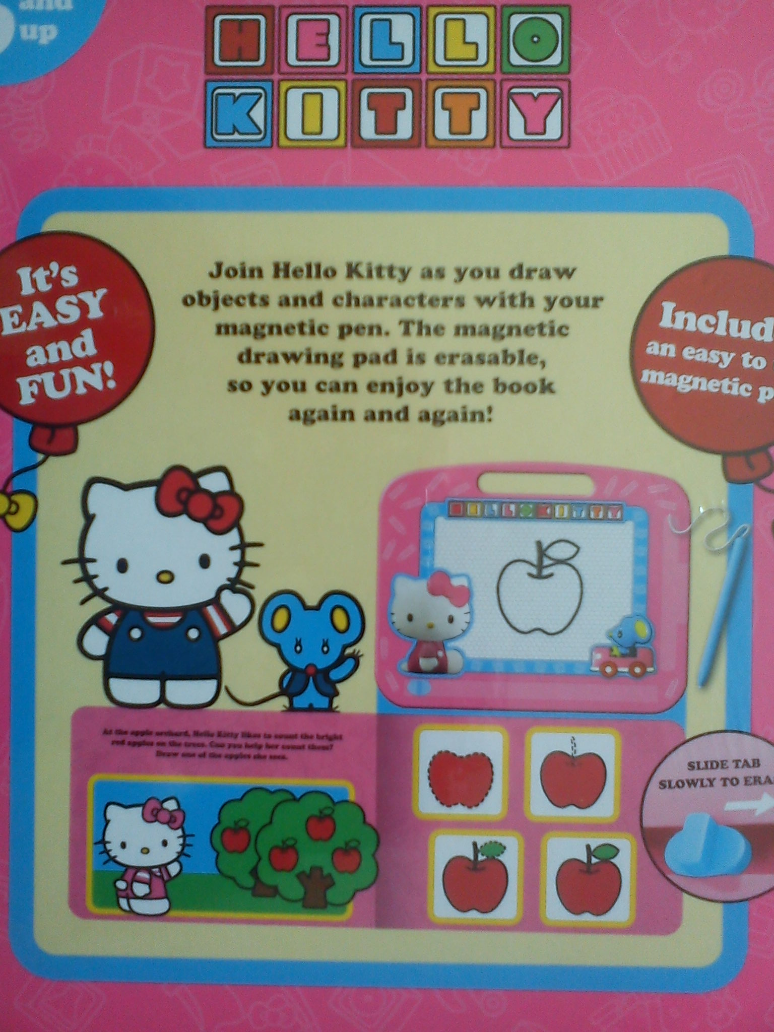 Znikopis i Książka Hello Kitty Tablica Magnetyczna