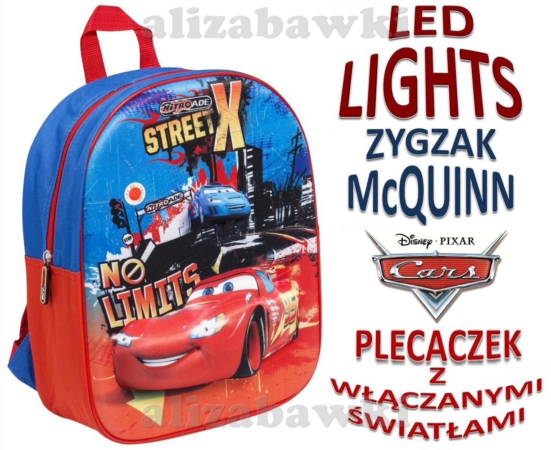 ff02aef9be45e Plecak Cars Auta LED 3D Włączane Światła Nitroade Plecaczek