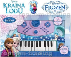 Keyboard Pianinko FROZEN Kraina Lodu DISNEY XL