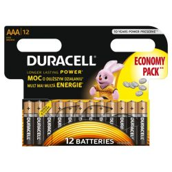 DURACELL Basic AAA/LR03 P12 Baterie Alkaliczne Paluszki 1,5V