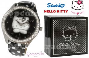 HELLO KITTY London Black Watch ZEGAREK Made in Italia Camomilla