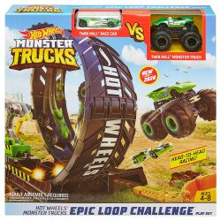 Zestaw HOT WHEELS Monster Trucks Tor z Pętlą Autka