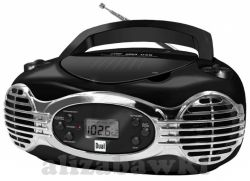 DUAL Stereo CD Radio RETRO CD/MP3 USB Led Boombox