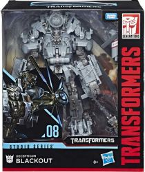 DUŻA Figurka Transformers GENERATIONS STUDIO SERIES LEADER Blackout 46 kroków